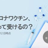 新型コロナワクチン、どうやって受けるの? 2021年4月12日時点 その1
